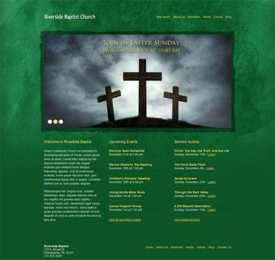 Green Grunge WordPress Theme