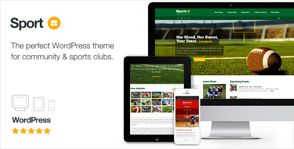 Sport WordPress Club Theme