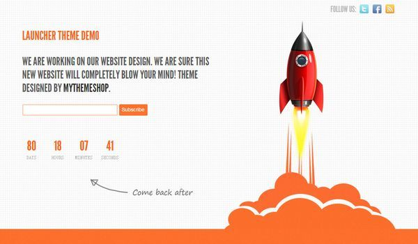 Responsive Free Under Construction WordPress Theme