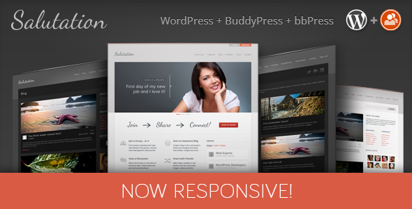 Salutation Responsive WordPress Buddypress Theme