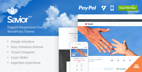 Savior Charity Donations WordPress Theme