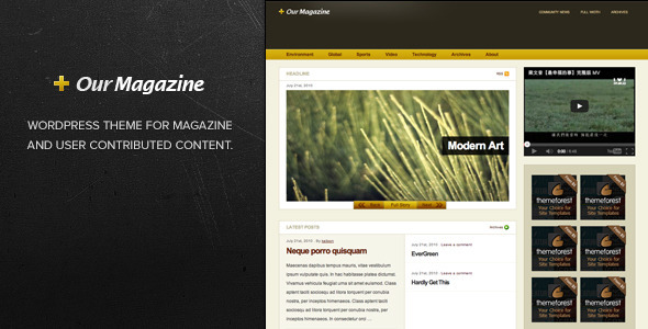 Our Magazine Magazine WordPress Theme