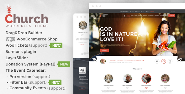 Church & Events Responsive WordPress Theme