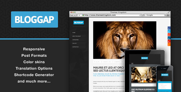 Bloggap Responsive Blog WordPress Theme