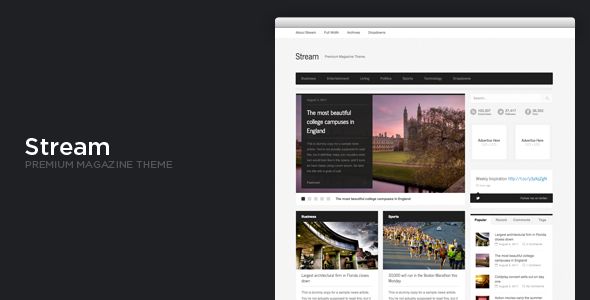 Stream WordPress News Magazine Theme
