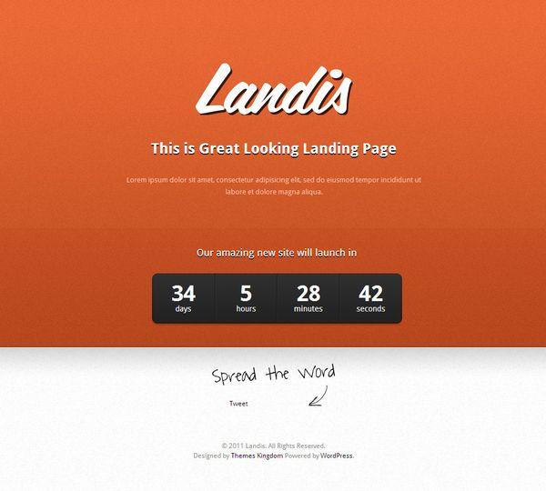 Landis Under Construction WordPress Theme