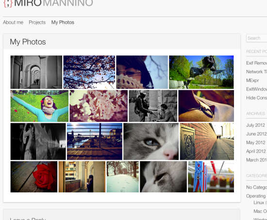 Flickr Justified Gallery Plugin