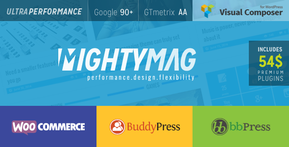 Mightymag Magazine Shop Community WP Theme