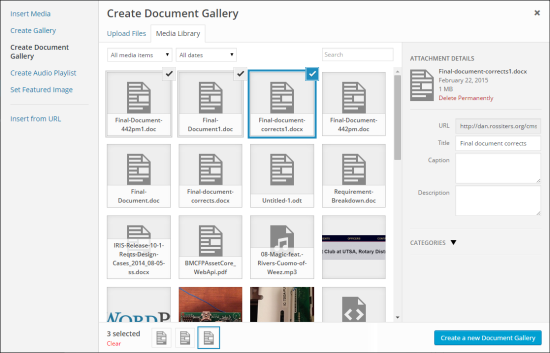 Document Gallery Plugin