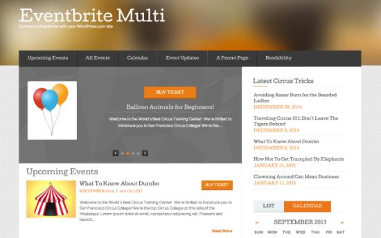 Eventbrite Multi Event WordPress Theme