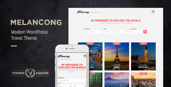 Contemporary Travel WordPress Theme