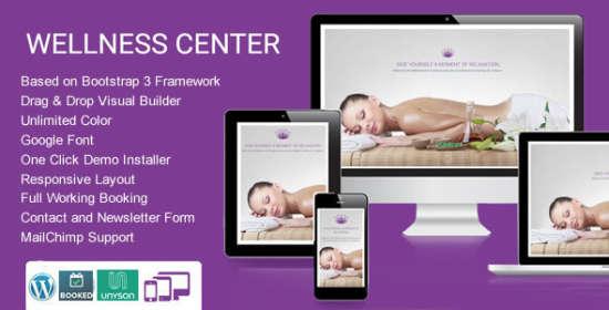 WellnessCenter Beauty Spa WordPress Theme