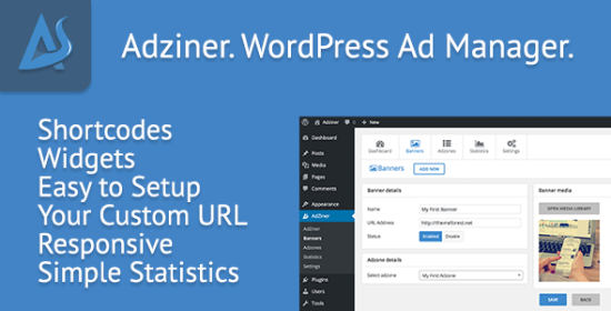 Adziner WordPress Advertising Manager Plugin