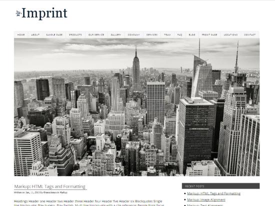 Imprint WordPress Theme