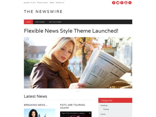 The Newswire WordPress Theme