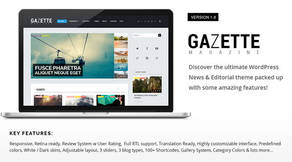 Gazette Magazine WordPress Community Theme